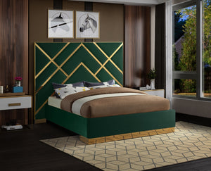 Victory Contemporary Bed in 5 Color Options