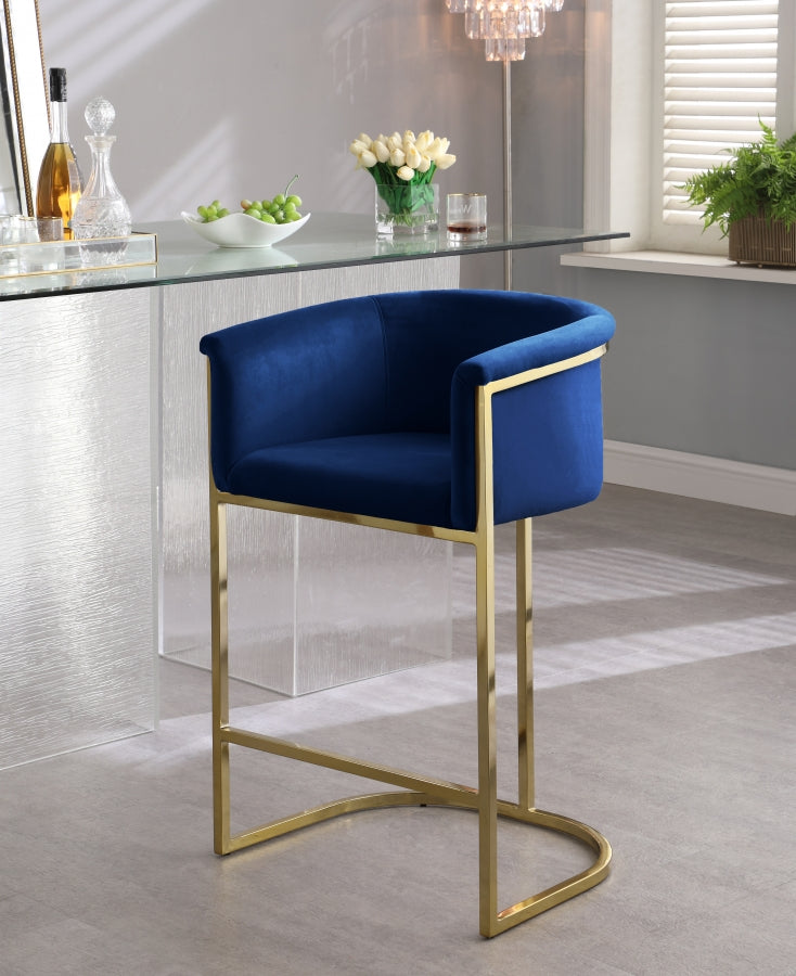Doug Contemporary Velvet Stool in 5 Color Options