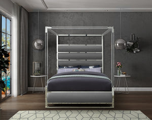Contemporary Acrylic Canopy Bed in 3 Color Options