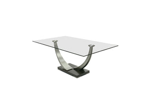 Tangent Rectangular Glass Dining Table
