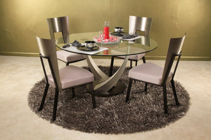 "Tangent 54"" Round Glass Dining Table"