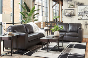 Merlos Leather Living Room Collection with Sleeper Option in Grey or Brown