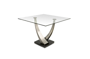 "Tangent 60"" Square Glass Dining Table"
