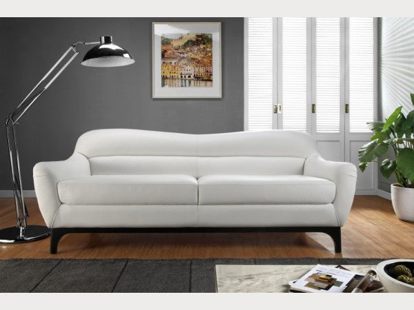 Wollo White Leather Living Room Collection