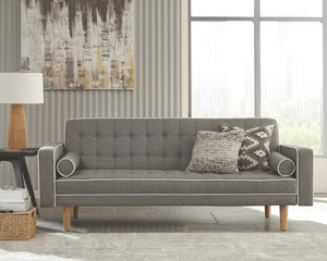 Luske Grey Tufted Convertible Sofa Bed by Scott Living