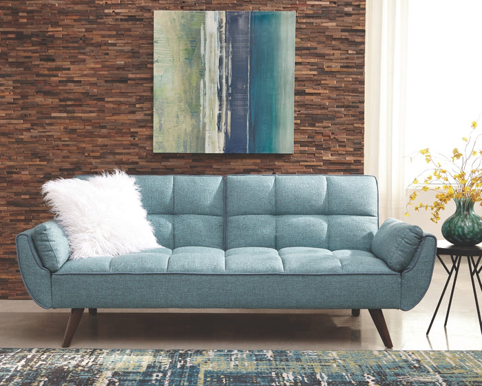 Cheyenne Turquoise Fabric Sofa Bed by Scott Living