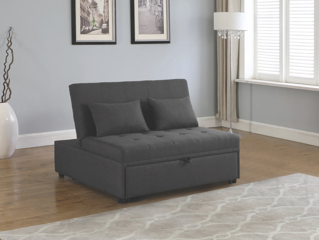 Lany Dark Grey Fabric Convertible Sofa
