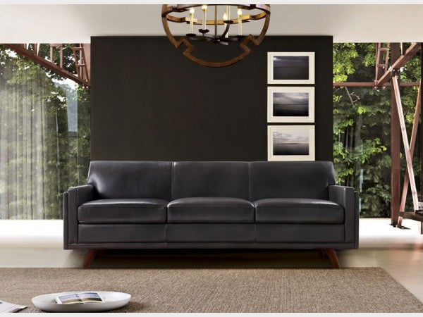 Milo Mid Century Leather Living Room Collection