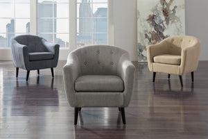 Corey Barrel Back Accent Chair in 3 Color Options
