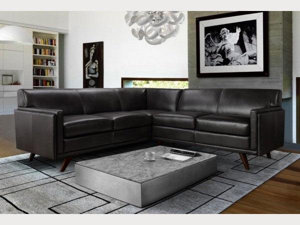 Milo Mid Century Leather Sectional