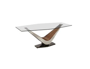 Victor Rectangular Glass Dining Table in 2 Sizes