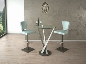 Crystal Contemporary Glass Pub Table