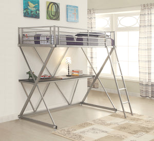 Hilliard Workstation Loft Bed in Twin or Full