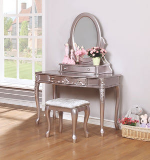 Carolina Metallic Lilac Vanity Set