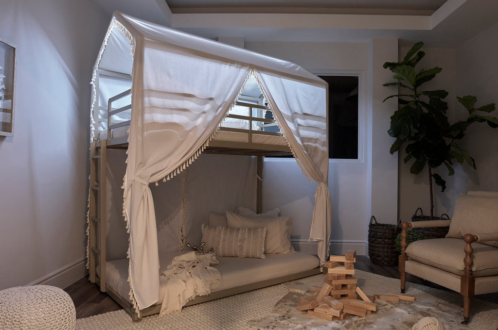 Champagne Canopy Twin Bunk Bed