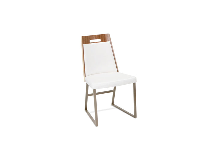 Tyler Contemporary Dining Chair with Walnut Veneer Back