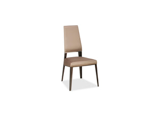 Vivian Upholstered Dining Chair with Steel Tapered Legs
