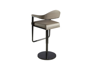 Tiffany Adjustable Barstool with Contoured Backrest
