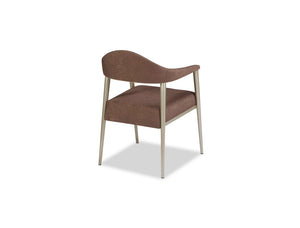 Tiffany Contemporary Arm Chair with Tapered Legs