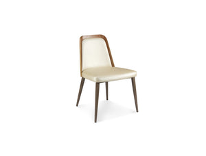 Coco Curve Walnut Back with Tapered Steel Legs Dining Chair