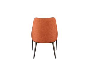 Senna Curved Back Dining Chair with Tapered Steel Legs