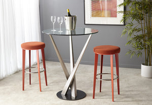 Gus Round Backless Stool in Counter or Bar Height