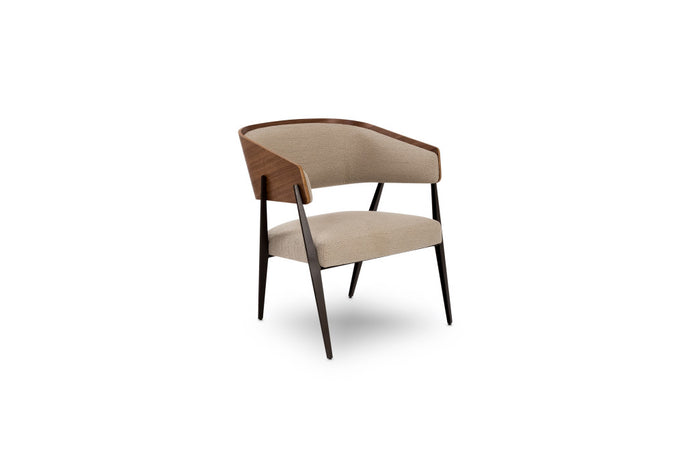 Aria Accent Chair with Walnut Backs