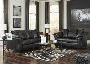 Daria Living Room Collection in Black or Grey with Optional Queen Size Sleeper