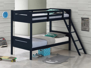 Lita Twin/Twin or Twin/Full Bunk Bed in 5 Color Options