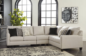 Helen Contemporary Fabric Sectional