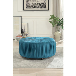 Janice Round Velvet Ottoman in 3 Color Options