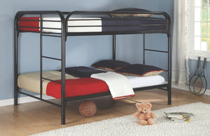 Jacob Full over Full Metal Bunk Bed in 3 Color Options
