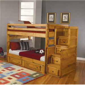 Full over Full Bunk Bed with Optional Under Bed Storage