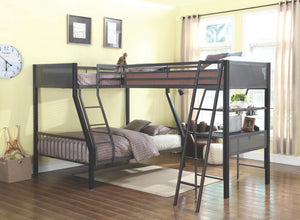 Meryl Metal Loft Bunk Bed in Twin/Twin or Twin/Full
