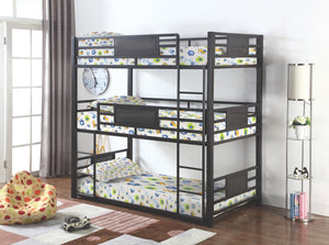 Roger Triple Bunk Bed in Twin or Full Size
