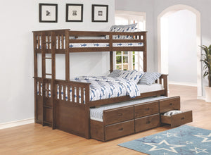 Weathered Convertible Bunk Bed in Twin/Full or Twin/Queen