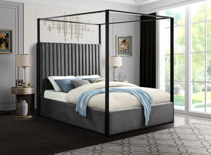 Contemporary Canopy Bed in 3 Color Options