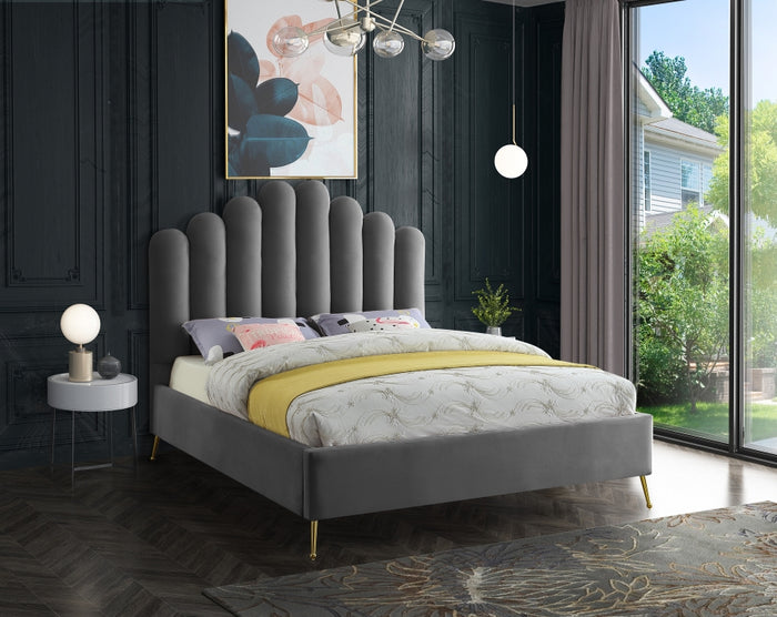Lynette Velvet Platform Bed in 4 Color Options