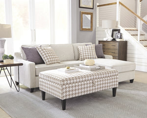 Montgomery Sloped Track Arms Cream Sofa Chaise