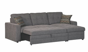 Gustavo Fabric Sleeper Sectional with Storage Chaise