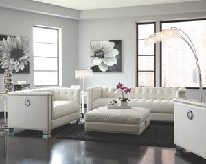 Viviana Glam Living Room Collection in White
