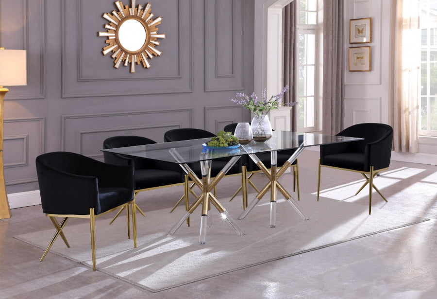 Medina Acrylic Dining Table in Round or Rectangular