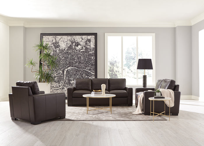 Bobo Dark Brown Leather Living Room Collection