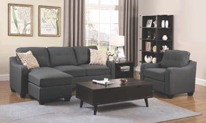 Nicole Dark Grey Sofa Chaise