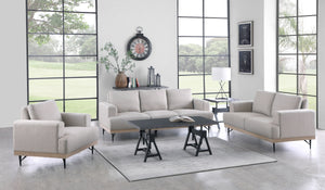 Kesha Industrial Living Room Collection in Beige or Charcoal