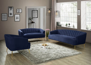 Marie Velvet Living Room Collection in 5 Color Options