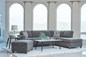 Cordelia Dark Grey Chenille Fabric Sectional