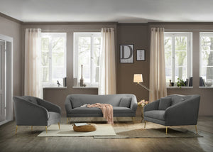 Hermine Velvet Living Room Collection in 5 Color Options