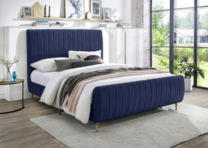 Zelda Velvet Platform Bed in 4 Color Options
