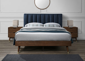 Vanessa Mid Century Platform Bed in 3 Color Options